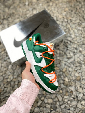 Off-White x Nike Dunk Low Leather - Pine Green