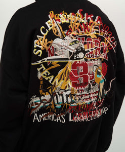 Black Chaos Embroided Sweater - Just_4Kicks