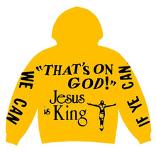 Load image into Gallery viewer, Jesus Is King Yellow Hoodie - Just_4Kicks