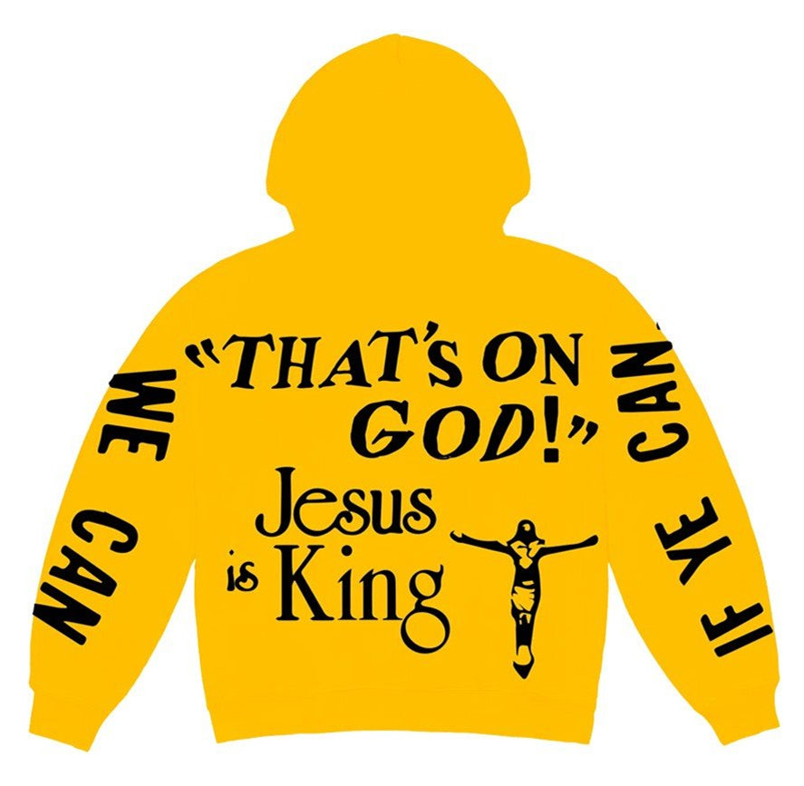 Jesus Is King Yellow Hoodie - Just_4Kicks