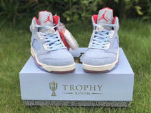 "이미지를 갤러리 뷰어에 로드 , Trophy Room x Air Jordan 5 ""Ice Blue"" - Just_4Kicks"