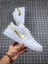 "Load image into Gallery viewer, Air Jordan 1 Low ""White & Metallic Gold"" - Just_4Kicks"