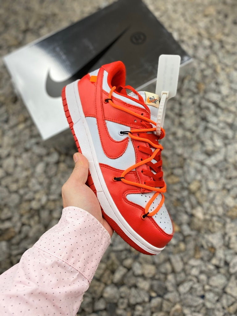 Off-White x Nike Dunk Low Leather - University Red