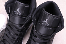 Load image into Gallery viewer, Air Jordan 1 MidBlack, Dark Grey & White