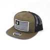 National 1.0 Snapback (Olive/Black W- Black/White Patch)