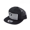 National 1.0 Snapback (Black/Black W- Black/White Patch)