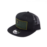 National 1.0 Snapback (Black/Black W- (Army/Black Patch)