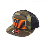 National 1.0 Snapback (Camo/Black W- Orange/Black Patch)