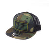 National 1.0 Snapback (Camo/Black W Army/Black Patch)