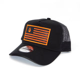 National 1.0 Snapback (Black/Black W- Orange/Black Patch)