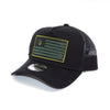 National 1.0 Snapback (Black/Black W- Army/Black Patch)