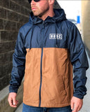 BLACKGOLD Windbreaker in Blue/Brown