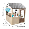 Image of HillCrest Wooden Playhouse by Kid Kraft - Kids Playhouse World