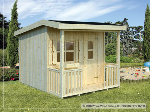 Alex 54 Sq.Ft Playhouse by Whole Wood Cabins - Kids Playhouse World