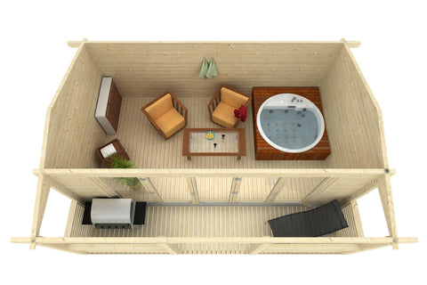 Plymouth 165 Sq.Ft Teenage Cabin by Whole Wood Cabins - Kids Playhouse World