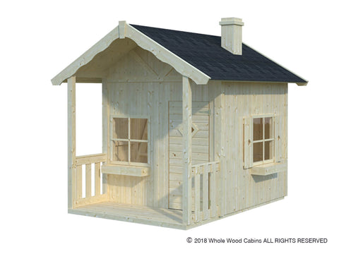 Helen 30 Sq.Ft Playhouse by Whole Wood Cabins - Kids Playhouse World