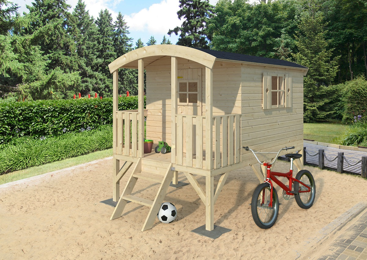 Hagan (10X6 ft) Playhouse by Whole Wood Cabins - Kids Playhouse World