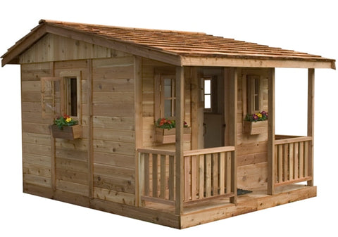 Cozy Cabin Playhouse by Outdoor Living Today !CALL NOW AND SEE IF YOU QUALIFY FOR 10% OFF THIS ITEM! - Kids Playhouse World