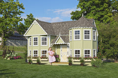 Sara's Victorian Mansion Playhouse by Little Cottage Co. CALL 773-683-3399 SEE IF YOU ARE ELIGIBLE TO HAVE $500 OFF PURCHASE - Kids Playhouse World