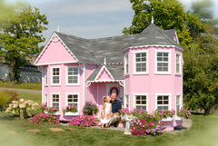 Sara's Victorian Mansion Playhouse by Little Cottage Co. CALL 773-683-3399 SEE IF YOU ARE ELIGIBLE TO HAVE $500 OFF PURCHASE