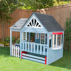 Blue Trail Timber Wooden Outdoor 7' x 6' Playhouse By KidKraft