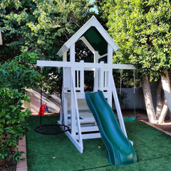 The Fort Backyard Swing Set by Ruffhouse Play Systems - Kids Playhouse World
