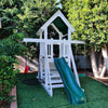 Image of The Fort Backyard Swing Set by Ruffhouse Play Systems - Kids Playhouse World