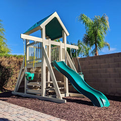 The Fort Backyard Swing Set by Ruffhouse Play Systems