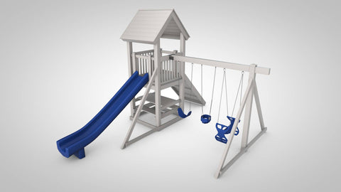 The Hideout Backyard Swing Set by Ruffhouse Play System - Kids Playhouse World