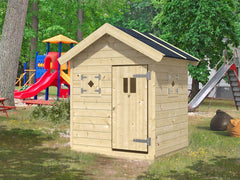 Peg (6x4 ft) Playhouse by Whole Wood Cabins - Kids Playhouse World