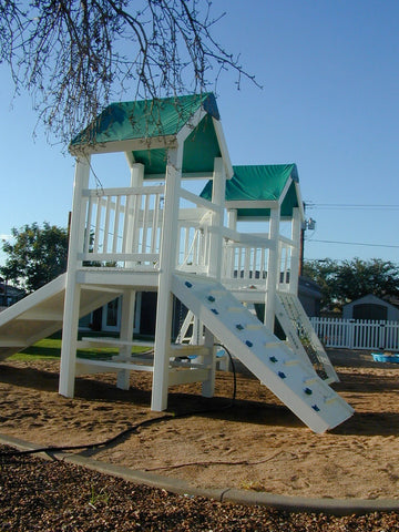 The Palace Backyard Swing Set by Ruffhouse Play System - Kids Playhouse World