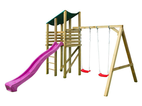 Elly Outdoor Playset by Whole Wood Cabins - Kids Playhouse World