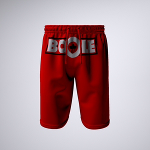 "B. Cole ""Classic"" Shorts - Red/White/Black"
