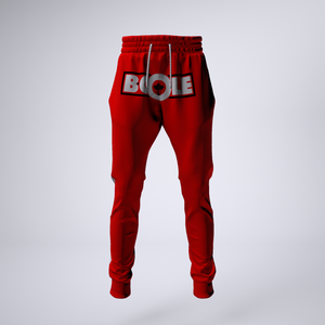 "B. Cole ""Classic"" Joggers - Red/Black/White"