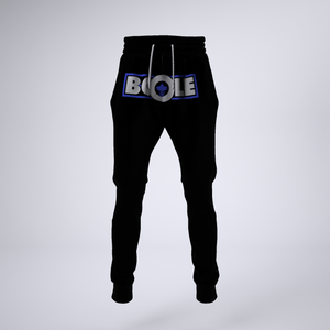 "B. Cole ""Classic"" Joggers - Black/White/Royal Blue"