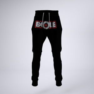 "B. Cole ""Classic"" Joggers - Black/Red"