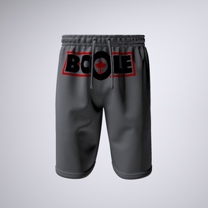 "B. Cole ""Classic"" Shorts - Sport Grey/Red"