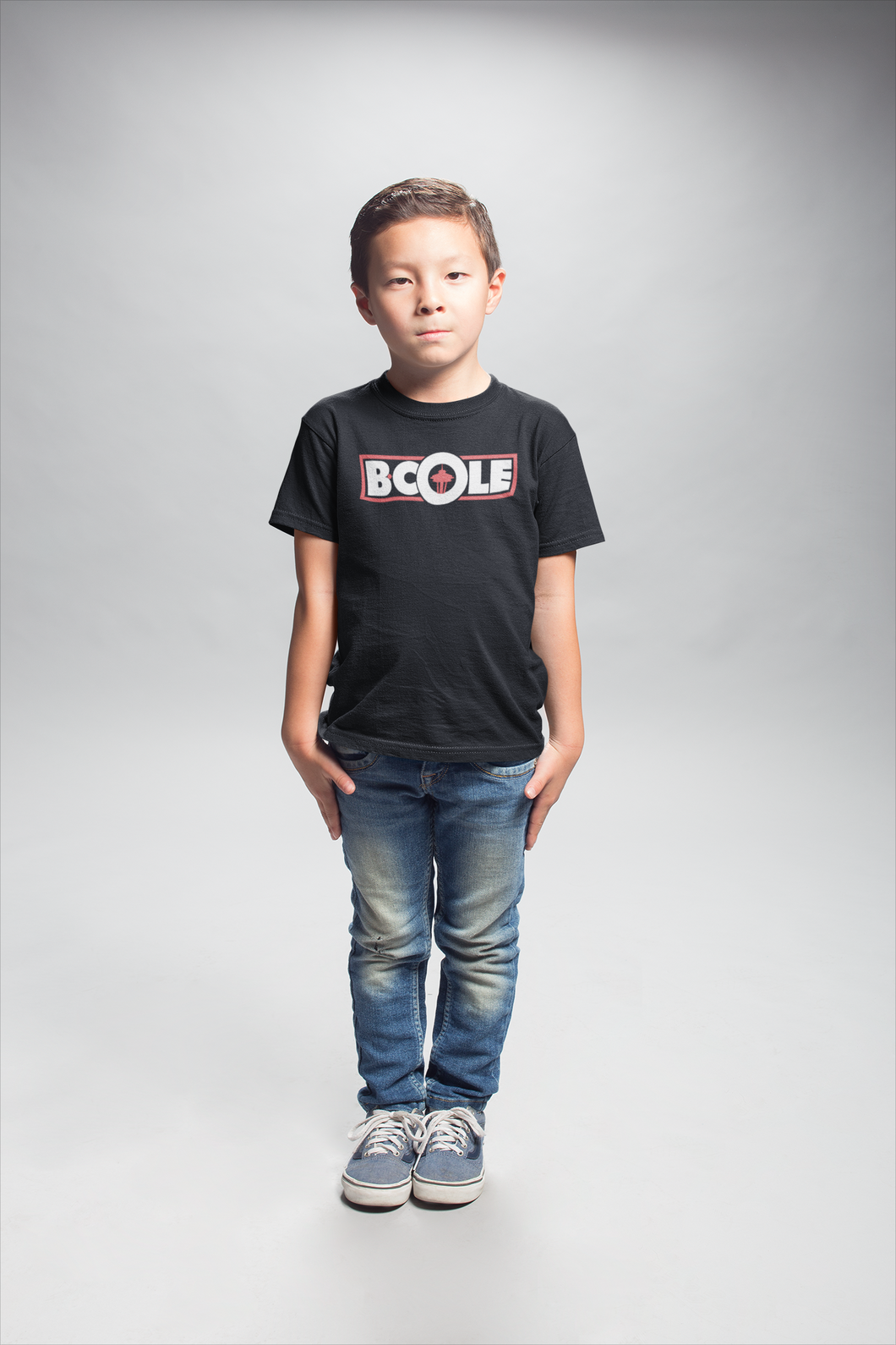 "B. Cole ""Youth"" Tee - Black/White/Red"