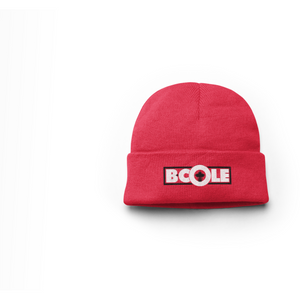 "B. Cole ""Classic"" Beanie - Red/White/Black"