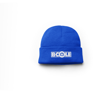 "B. Cole ""Classic"" Beanie - Royal Blue/White"