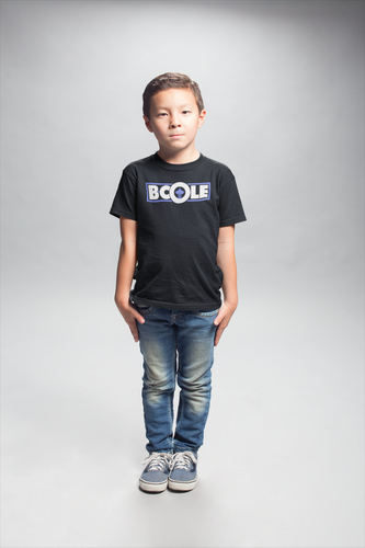 "B. Cole ""Youth"" Tee - Black/White/Royal Blue"