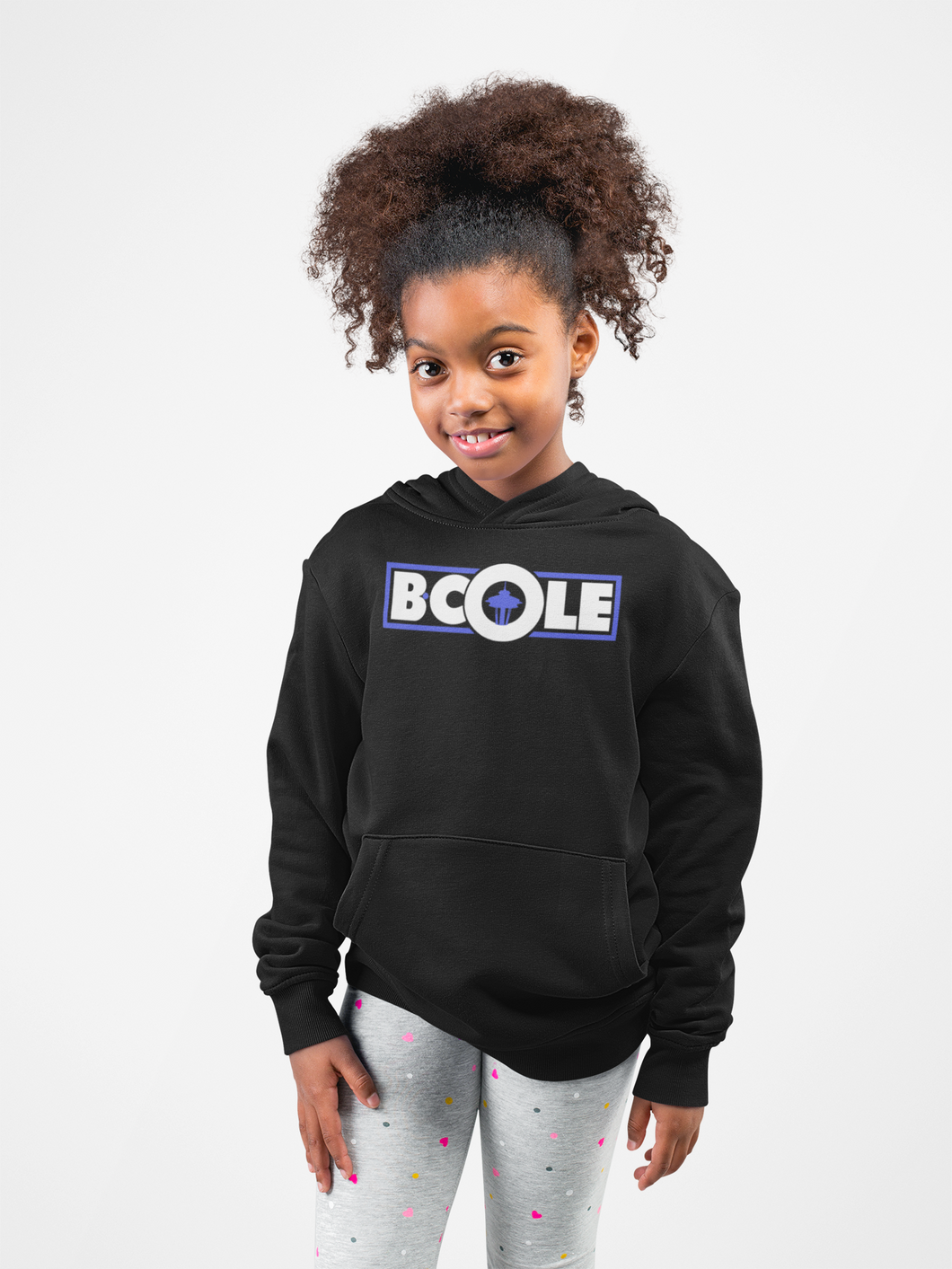 "B. Cole ""Youth"" Hoodie - Black/White/Royal Blue"
