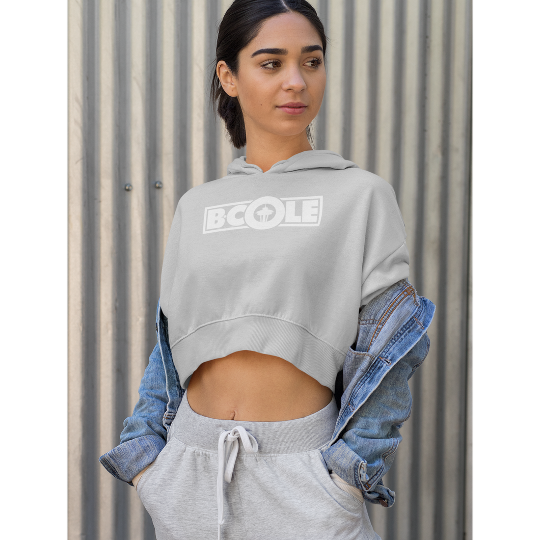 "B. Cole ""Classic"" Crop Hoodie - Sport Grey/White"