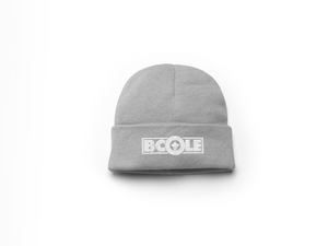 "B. Cole ""Classic"" Beanie - Sports Grey/White"