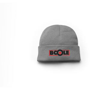 "B. Cole ""Classic"" Beanie - Sport Grey/Red"