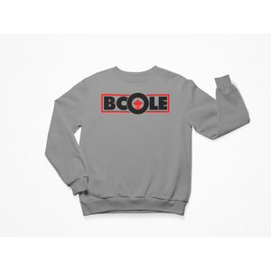 "B. Cole ""Classic"" Crew - Sport Grey/Red"