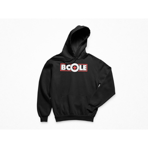 "B. Cole ""Classic"" Hoodie - Black/Red"
