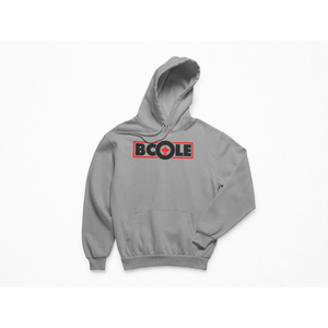 "B. Cole ""Classic"" Hoodie - Sport Grey/Red"