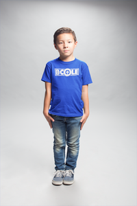 "B. Cole ""Youth"" Tee - Royal Blue/White"