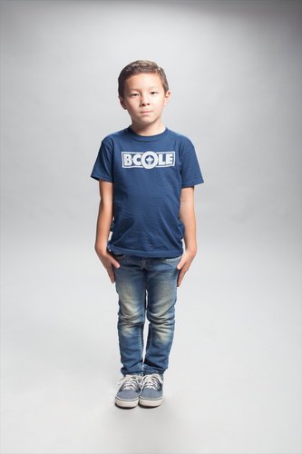 "B. Cole ""Youth"" Tee - Navy Blue/White"